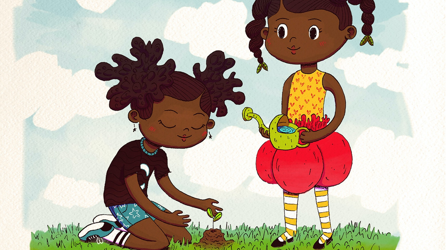 Happy Birthday, Tulip & Violet is a children's book that introduces readers to The Green Family. They love taking care of the Earth!