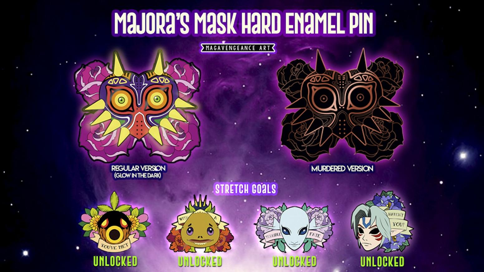 The Legend of Zelda Majora's Mask Pins + stretch goals by MagaVengeance Art  — Kickstarter