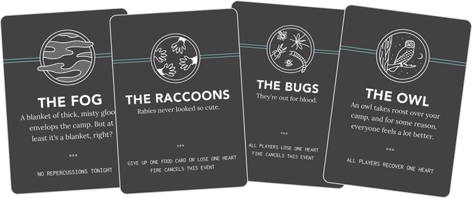 Night Cards (40) - Each of these serve as a single event during the Night