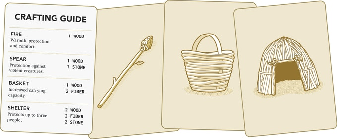 Craft Cards (20) - Things you can build with your supplies you find foraging