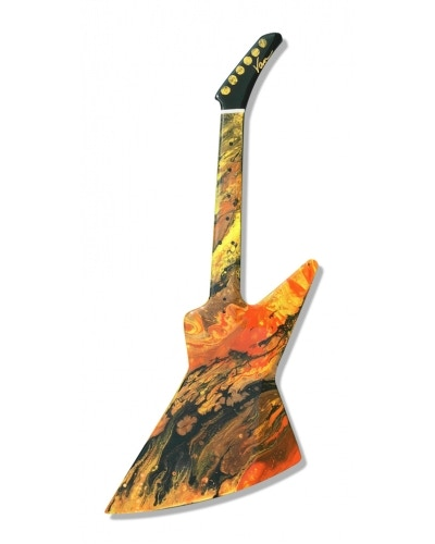 Inferno! this is just an example of guitar art that Van creates! He will make your guitar to your favorite body style!
