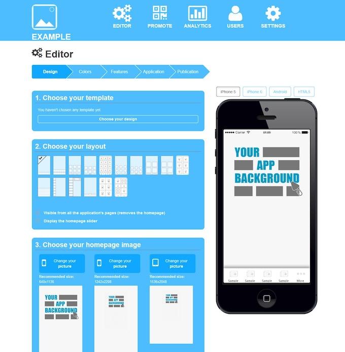 AprendeApps Drag n' Drop Mobile App Creator by AprendeApps