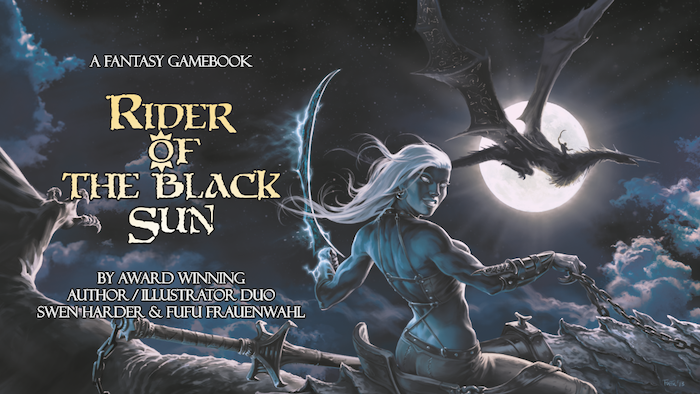 Support one of the most ambitious gamebooks ever created! Become a dragon master in the dark fantasy adventure: Rider of the Black Sun!