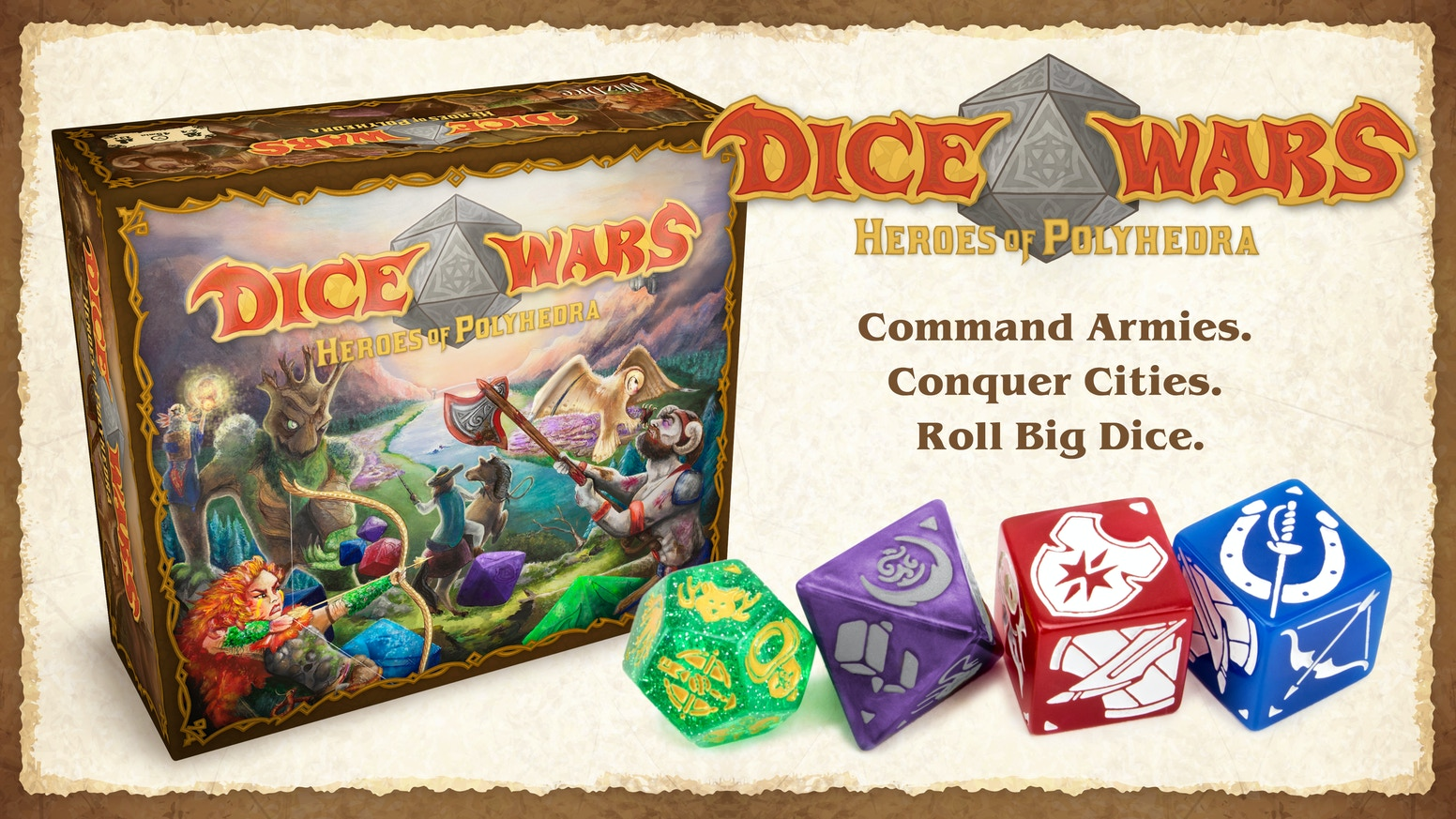 Dice Wars is a 2-4 player tactics battleground with infinite replay value. Roll armies, shuffle the map, add new rules, play forever.