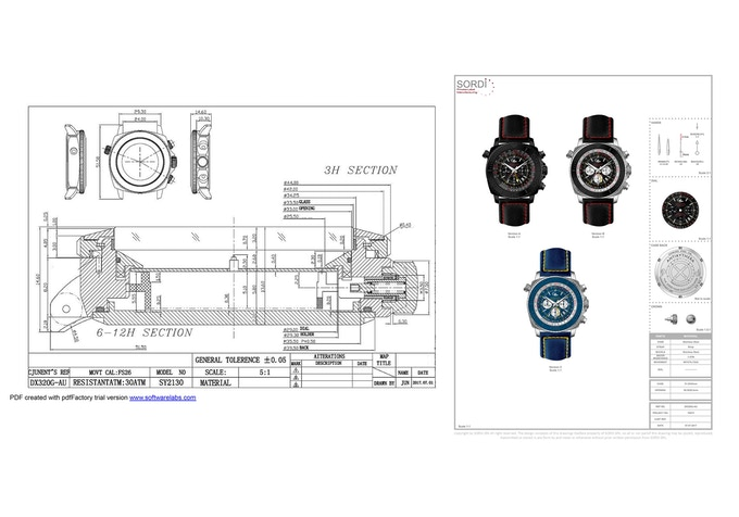 Antikythera watch, for divers, pilots and travellers by