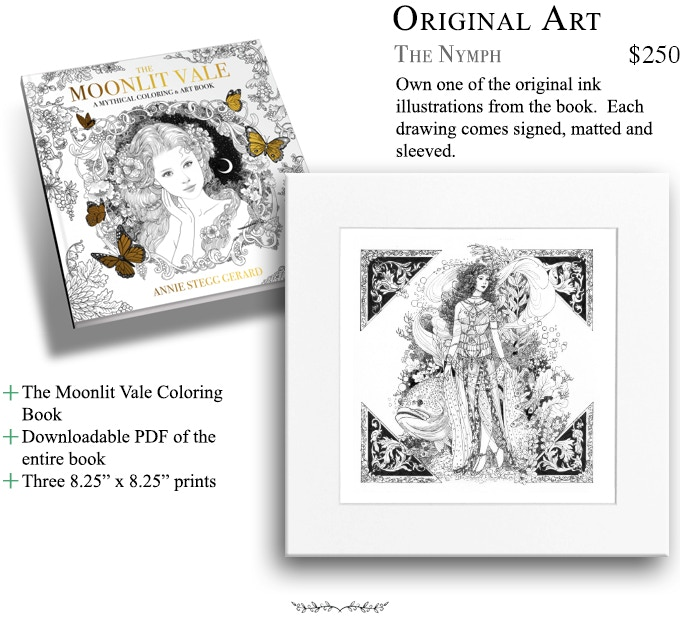 Everything In The Moonlit Vale Coloring Book Is Hand Drawn Using A Black Micron Pen Original Illustrations And Paintings Are Available For Purchase