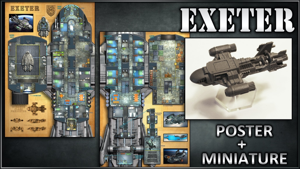 Exeter: Starship Map Poster & Miniature project video thumbnail