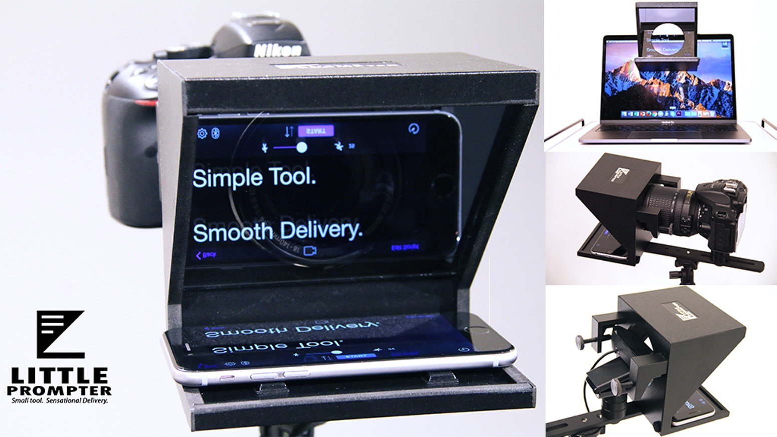 The Little Prompter Kickstarted beautifully, and now you can learn more and pre-order at www.LittlePrompter.com.