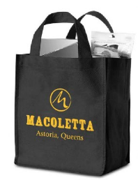 Shop in style with fun shopping bag. This durable bag can fit your groceries or anything else you need to carry around town and it's 100% reusable and recyclable