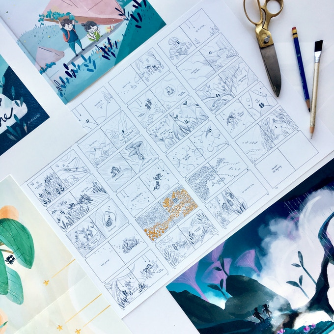 The full storyboard. The book is 95% done and has no risk of not being made :)