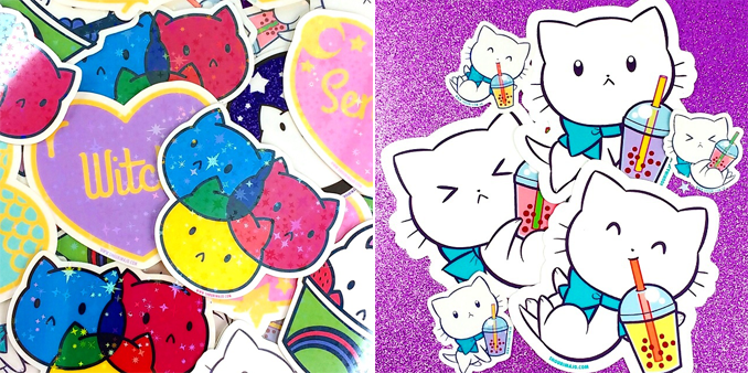 Holographic stickers and UV/Waterproof Vinyl decals!