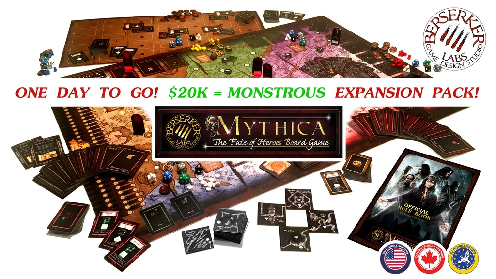 Mythica: Fate of Heroes Board Game project video thumbnail