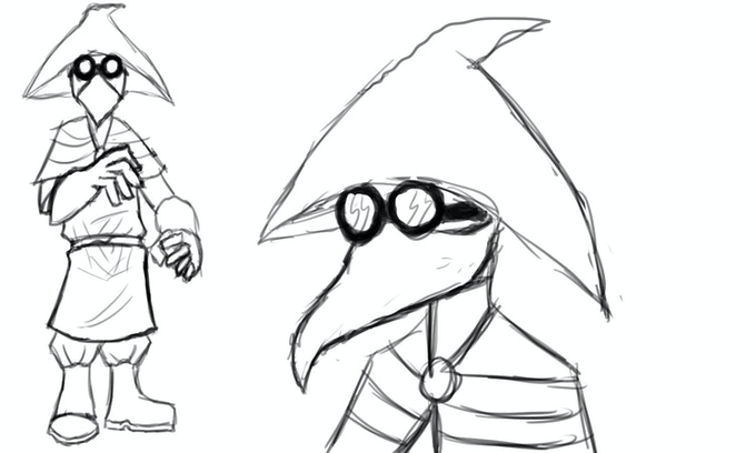 Early doctor sketches.