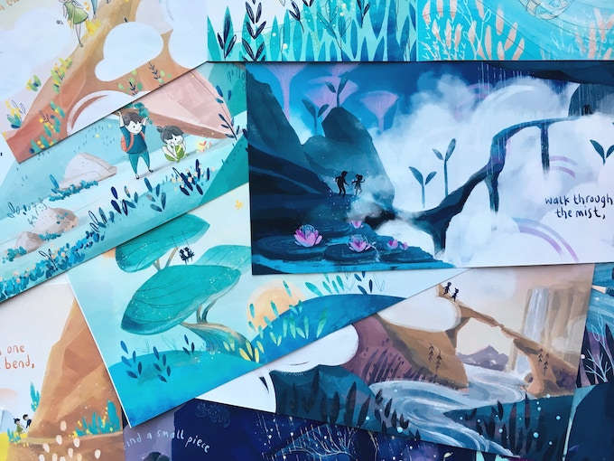 A peek at proofs of the finished panels. And check out the stop-motion preview in the video!