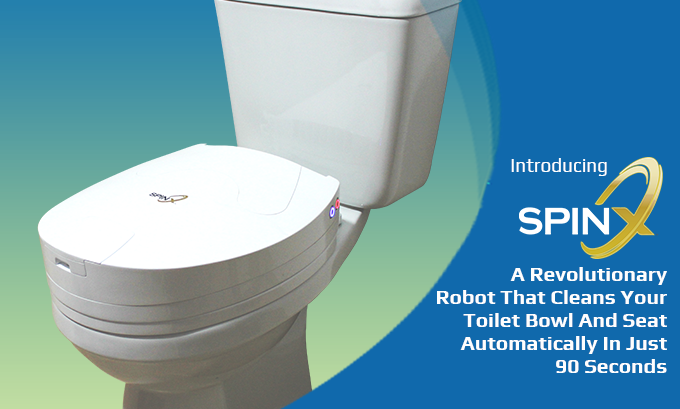 SPINX - World's First Toilet Cleaning Robot by SpinX
