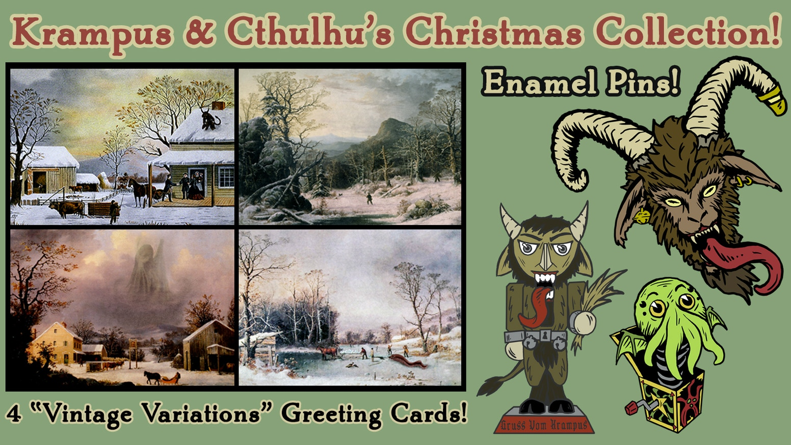 Krampus and Cthulhu\'s Christmas Card Collection 2017 by Kristopher ...