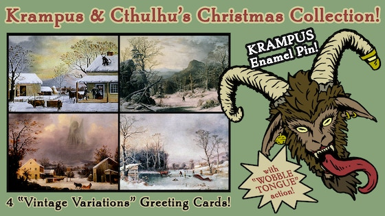 Krampus and Cthulhu's Christmas Card Collection 2017