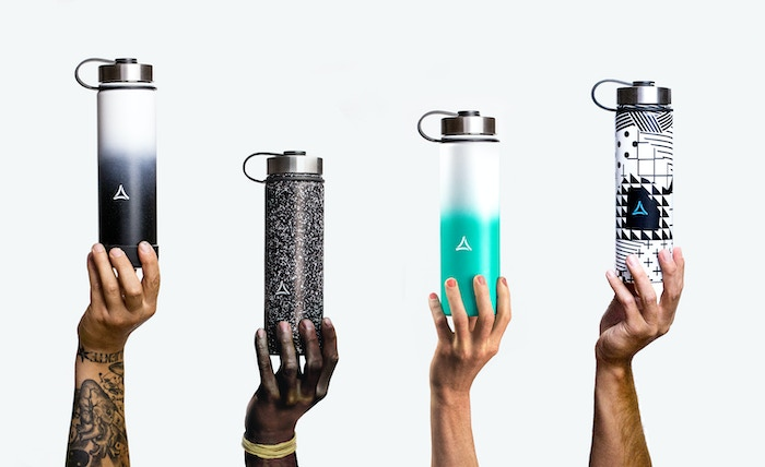 A stainless-steel vacuum-insulated water bottle with distinct attitude. Keeps beverage temperature (24hrs-cold, 12hrs-hot).