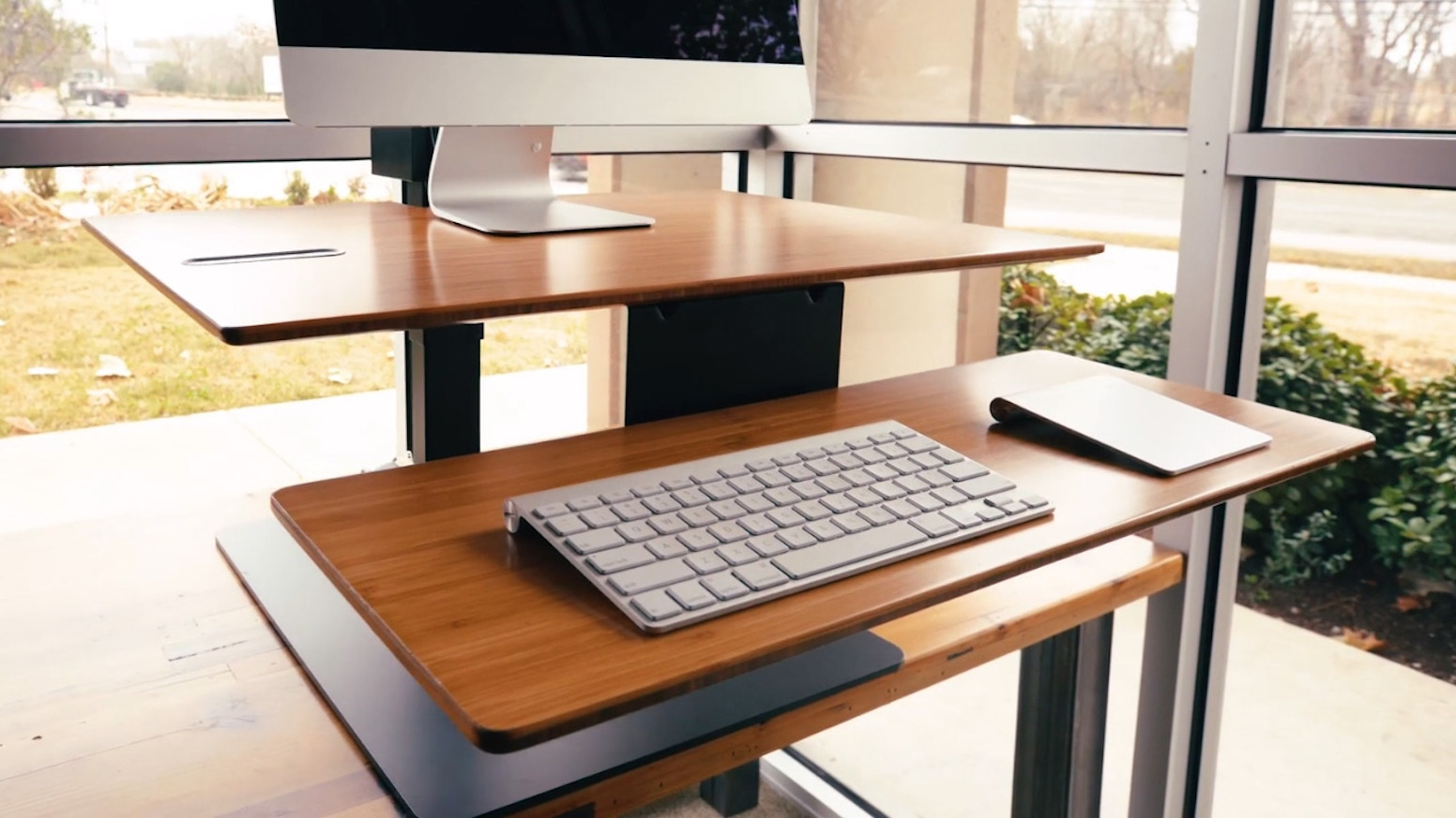 E7 Electric Standing Desk Converter By Uplift Desk By