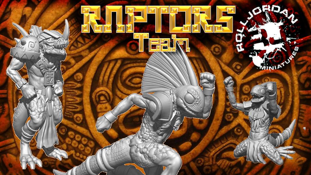 Project image for Rolljordan Raptors Lizardman Team Fantasy Football Miniature (Canceled)