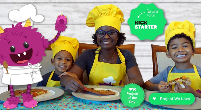 Website with illustrated step-by-step recipes that help kids cook with their grown-ups for more healthy eating + fun family time!