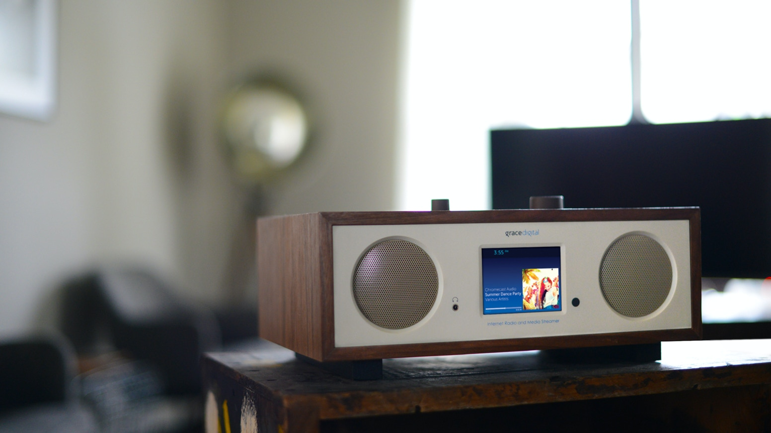 We developed a multi-function speaker/radio. It's a Wi-Fi speaker, with Chromecast built-in, Bluetooth, and an internet radio combined.