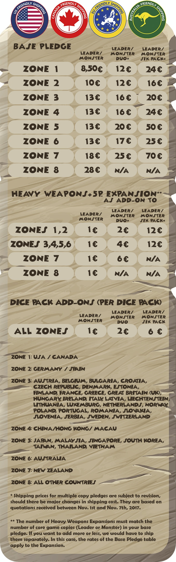 MONSTER LANDS – a strategic dice placement game by Second
