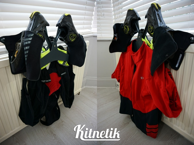 Kitnetik for full winter cycling kit, including bib tights
