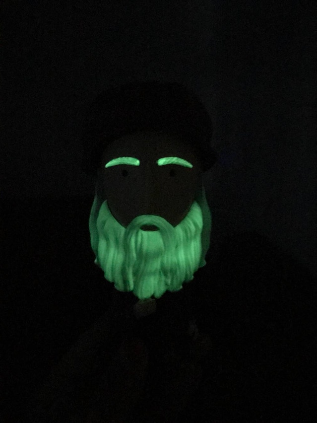 Don't forget about the glow-in-the-dark beard!