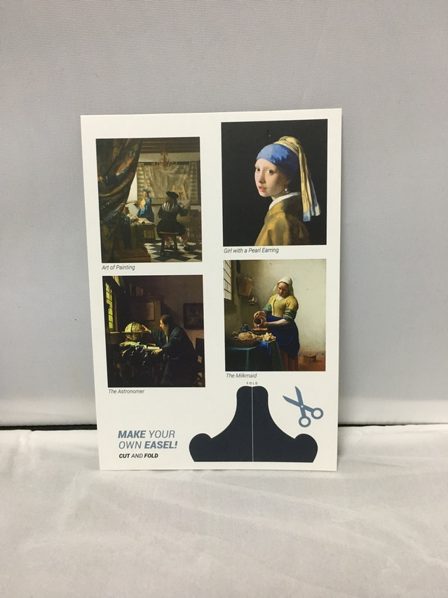 Vermeer's postcard insert