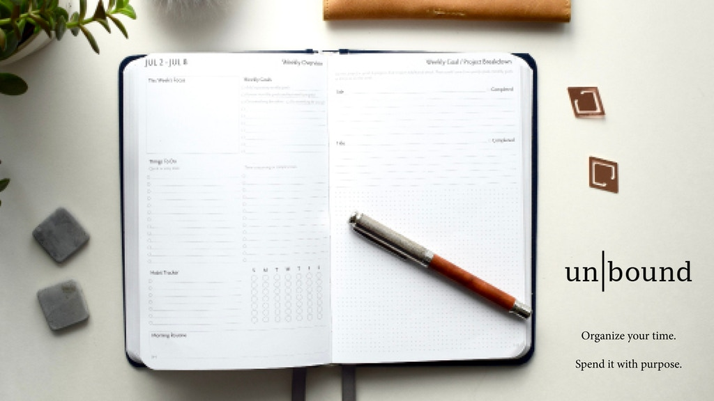 Unbound Planner 2018: redefine how you manage your time project video thumbnail