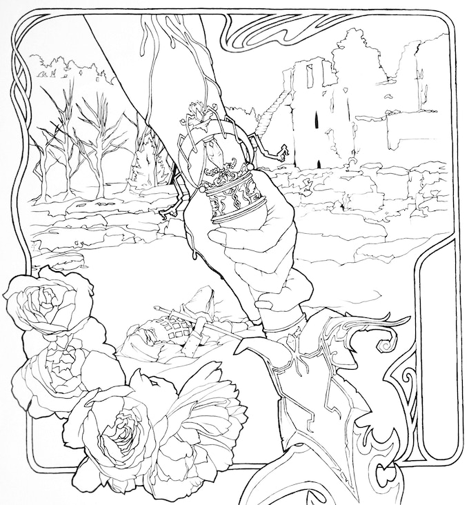 INCLUDES Original Ink Illustration From The Book PDF Version Of Entire Signed Copy Stories Flowers