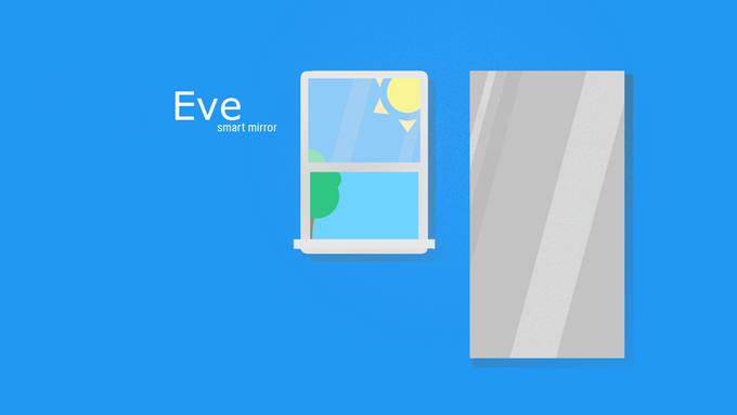 eve smart mirror interactive smart mirror with an app store by stephen bonnain kickstarter. Black Bedroom Furniture Sets. Home Design Ideas