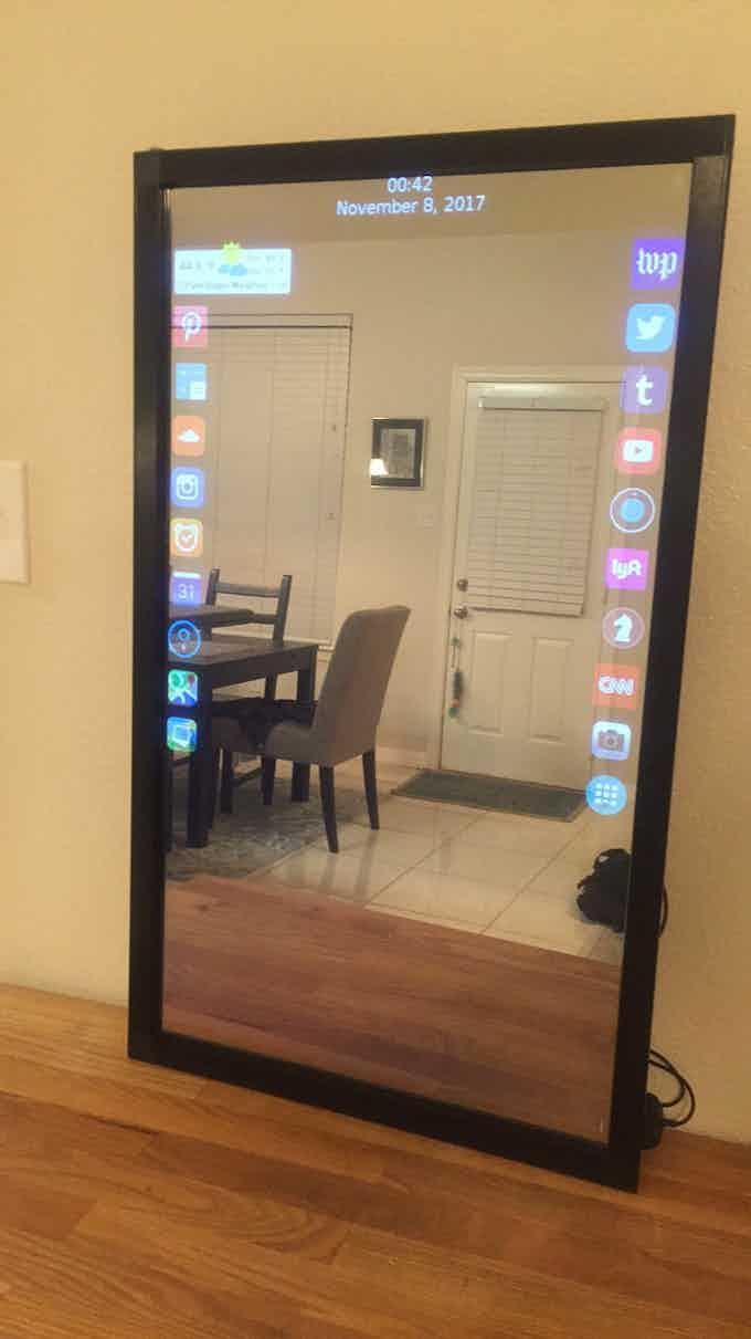 Eve Smart Mirror Turned On