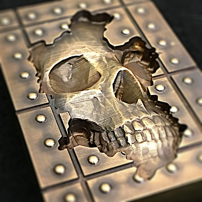 My original Memento Mori design milled from solid brass