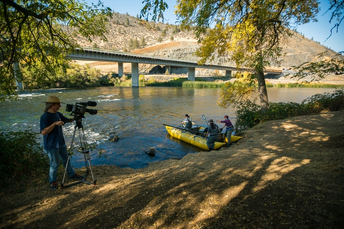 Filming Yurok Biology Team, Klamath River, October 2017