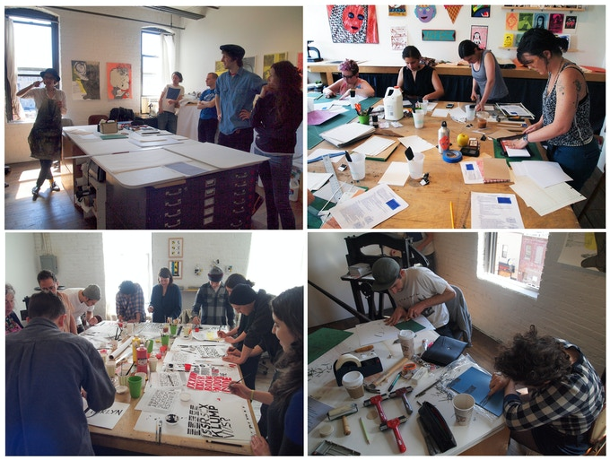 We offer various workshops in the arts, specializing in printmaking and book-binding.