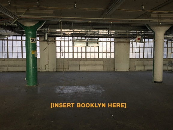 A portion of Booklyn's new home before the build out.