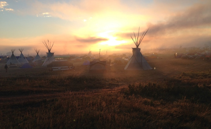 Dawn at Oceti Sakowin, North Dakota, September 2016