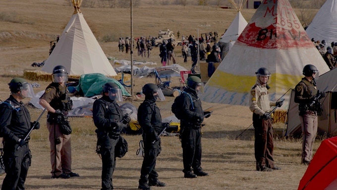 Riot Police at Treaty Camp, Standing Rock, October 2017