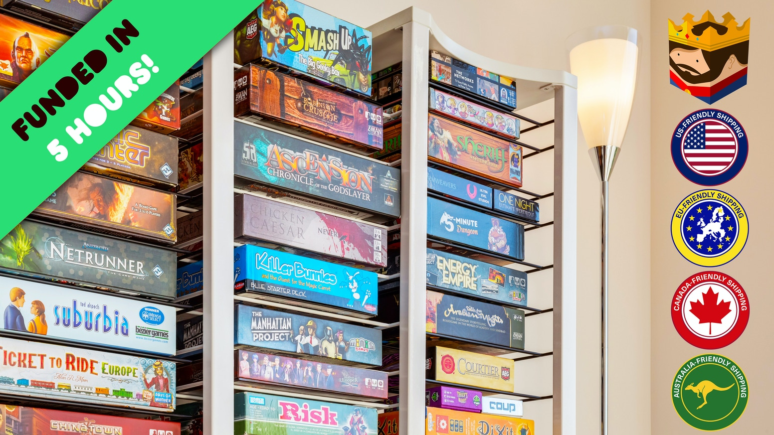 Dont Settle For Bookshelves The First Made Board Games