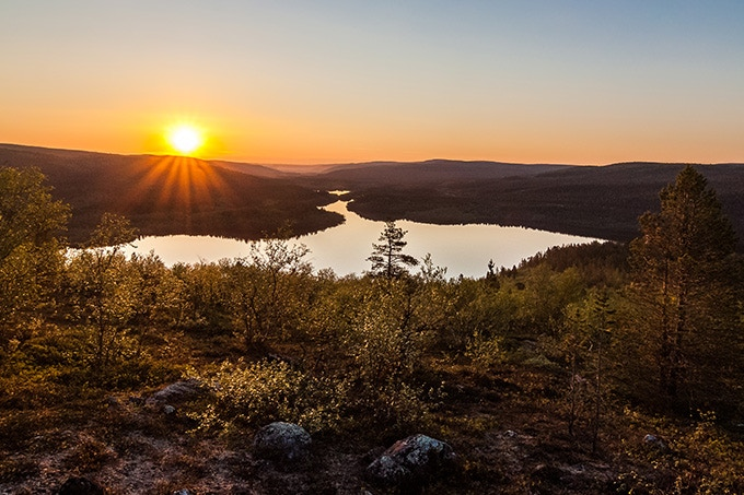 Above the Arctic Circle the sun never goes down in midsummer
