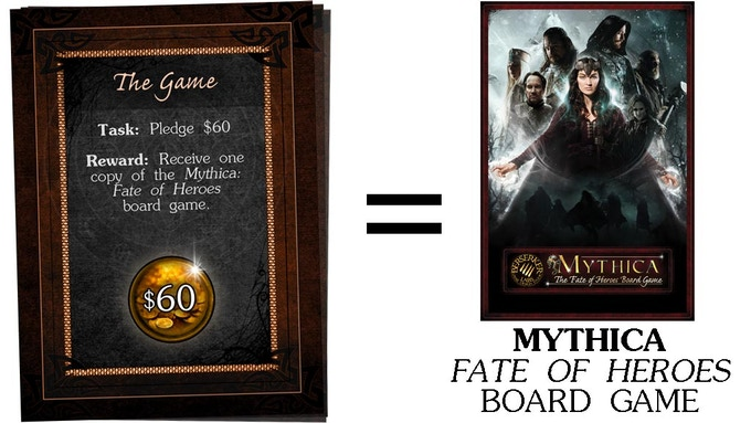 $60 - Mythica: Fate of Heroes board game