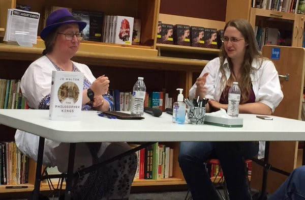Jo and Ada on a panel