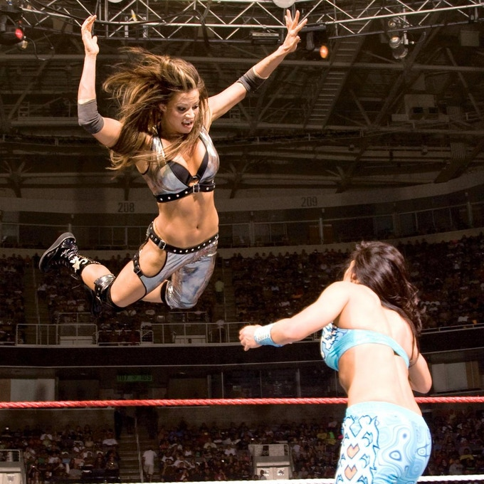 WWE Champion and The Good Roll advocate, Candice Michelle.