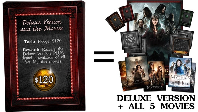 $120 - Deluxe Game + 5 Movies