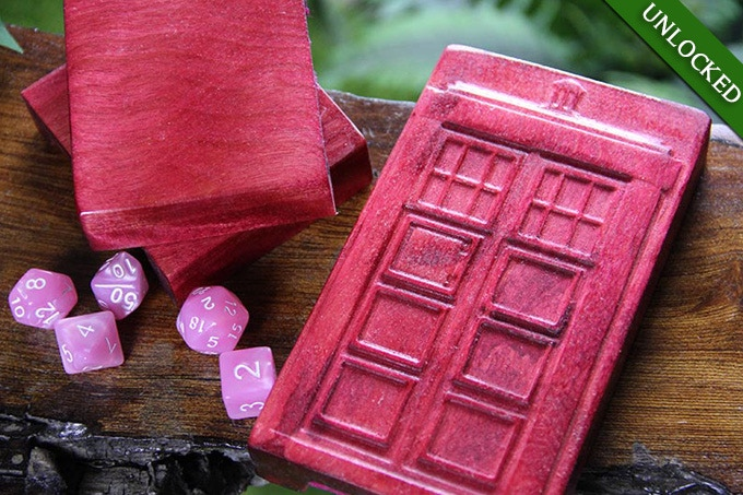 Dice Tower in electric Pink with Policebox Design.