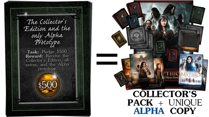 $500 - Collector's Pack + ALPHA Version
