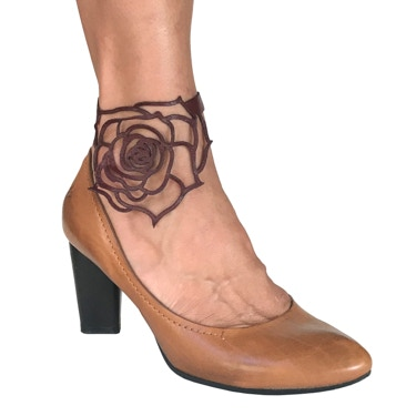 Laser Cut Rose Ankle/Arch Strap