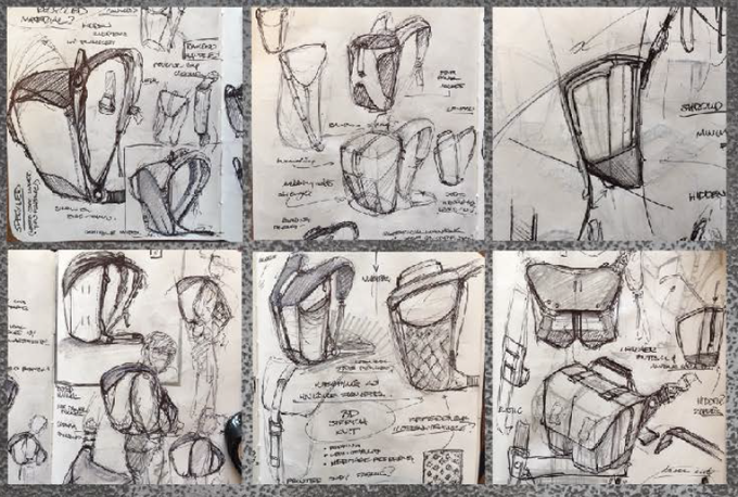 Early sketches of the travel system
